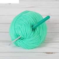 Крючок для вязания с пластиковой ручкой, d=4мм, 14см