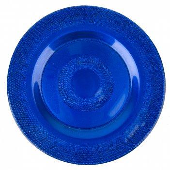 Блюдо сервировочное лазурит d=33см. h=2,5см. (стекло) (транспортная упаков