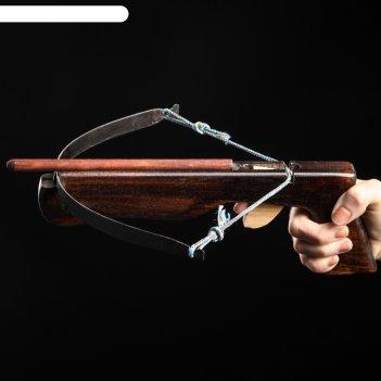Арбалет деревянный, детский, чёрный, 23 см (3 стрелы), массив черешни