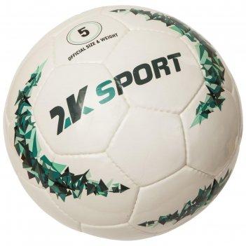 Мяч футбольный 2k sport crystal prime , white/aquamarine, размер 4