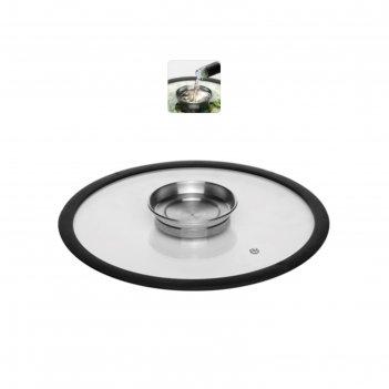 Стеклянная крышка с силиконовым ободом, 26 см, nadoba, серия nata