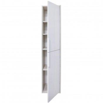 Шкаф-колонна рико белый/ясень фабрик 1a216603rib90, цвет белый
