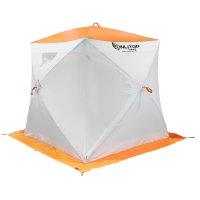 Палатка призма 170 (3-сл) стежка 210/100 люкс композит, бело-оранжевая