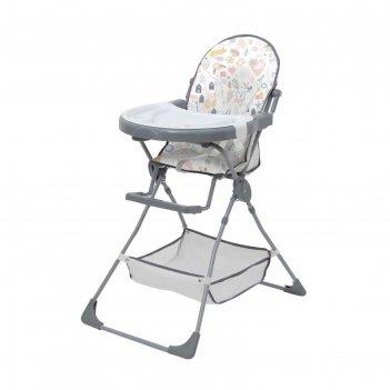 Стульчик для кормления polini kids 252 «единорог» hello baby, цвет серый