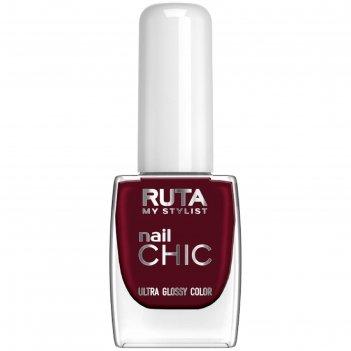 Лак для ногтей ruta nail chic, тон 47, тёмно-бордовый