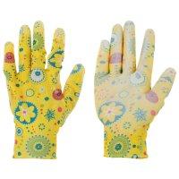 Перчатки садовые нейлон, латекс ( 9 размер) микс