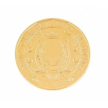 Сувенир монета золотому человеку на удачу