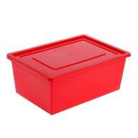 Ящик универсальный для хранения с крышкой,объем 30 л. цвет красный