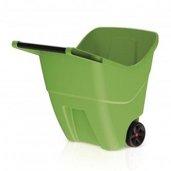 Тачка садовая loadgo, двухколёсная, 85 л, пластик, цвет оливковый