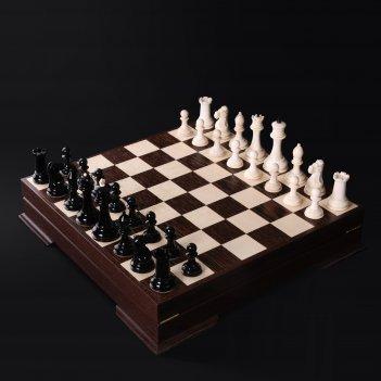 Шахматы стаунтон из бивня мамонта с тонировкой каdun