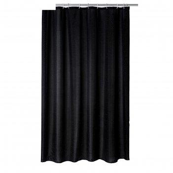 Штора для ванных комнат diamond, цвет черный