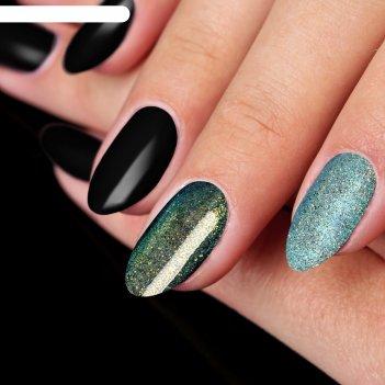 Пудра для декора ногтей, цвет голубой