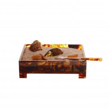 Дзен-сувенир янтарный сад из янтаря