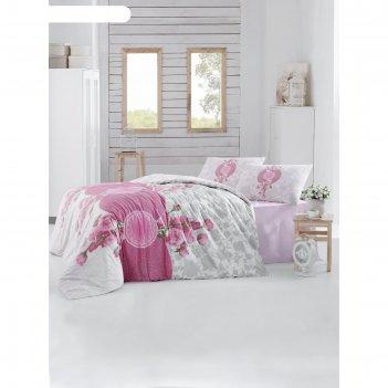 Кпб rosen евро, 240х260 см, 200х220 см, 50х70 см-2 шт.. цвет розовый, ранф