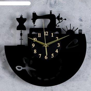 Часы настенные, серия: интерьер, покрой, круглые, акриловые, 30х30 см