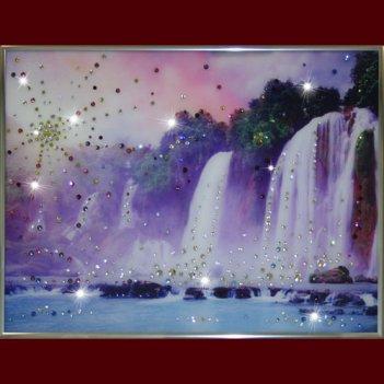Картина сваровски - долина водопадов