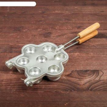 Форма для выпечки корзинки, с деревянными ручками