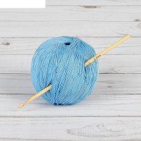 Крючок для вязания бамбуковый, d=4,0мм, 15см