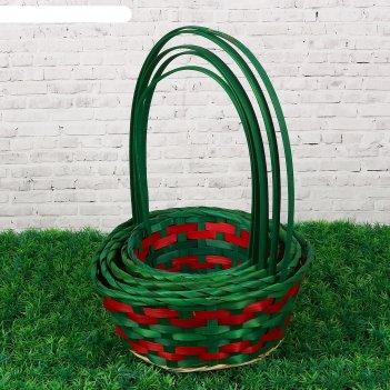 Набор корзин плетеных (бамбук), d16 hh29/d19 hh31/d21 hh33/d24 hh35/d26 hh
