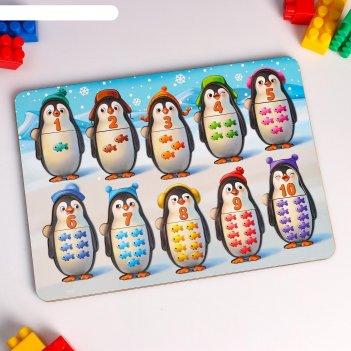 Сортер-вкладыш пингвинчики. счёт