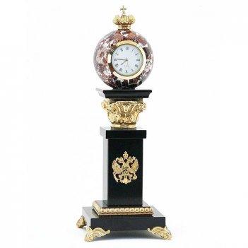 Настольные часы с шаром камень креноид