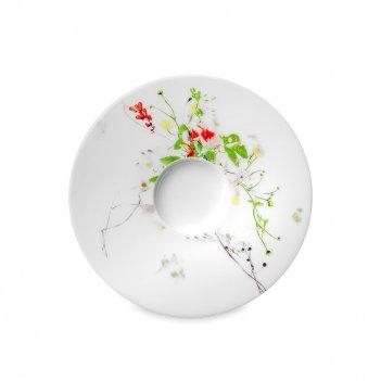 Блюдце «дикие цветы», диаметр: 15 см, материал: костяной фарфор, цвет: бел