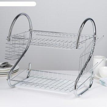 Сушилка для посуды 40х23,5х34 см стойка, s-образная