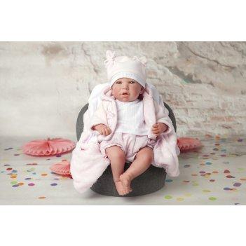 Arias reborns  paola реалистичные,  мягкое тело,  новорождённый пупс 45 см