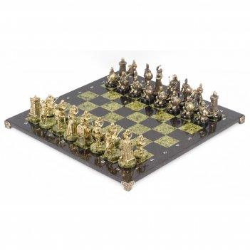 Шахматы турецко-европейская война змеевик бронза 480х480 мм