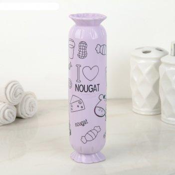 Футляр для зубной щетки и пасты конфета 5,7х21,8 см, цвета микс