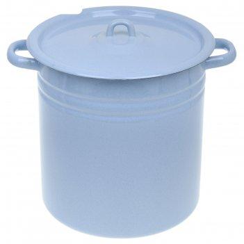 Кастрюля цилиндрическая 12 л, цвет серо-голубой