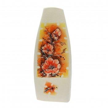 Ваза напольная форма скала цветы, пазл 1231