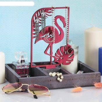Органайзер для хранения фламинго и монстера
