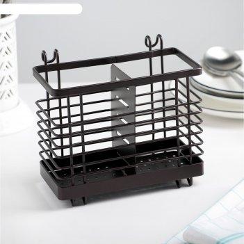Сушилка для столовых приборов подвесная доляна, 16,4x10x14,4 см, цвет кори