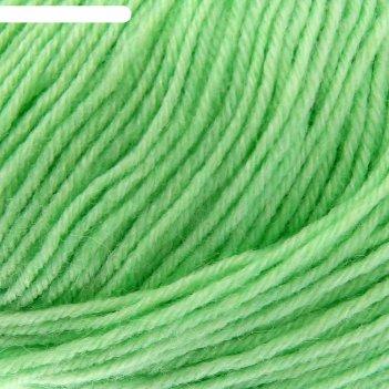 Пряжа детский каприз 50%мериносовая шерсть, 50% фибра 225м/50гр (41-салато