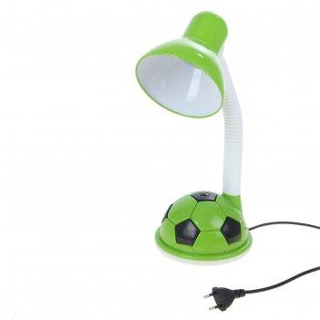 Настольная лампа футбольный мяч, 44 см, зеленая