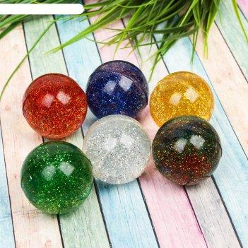 Мяч каучук блеск 4 см, цвета микс