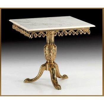 Стол из бронзы квадратный virtus золото 81х90 см 8148