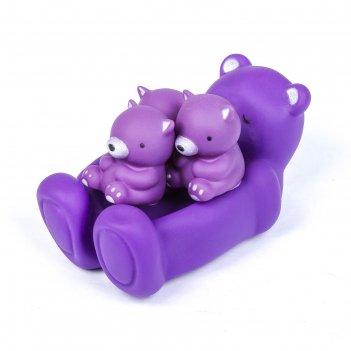 Набор игрушек для ванны «мишки», 4 шт., микс