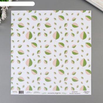 Бумага для скрапбукинга маленькие радости 30,5х30,5 см, 190 гр/м2