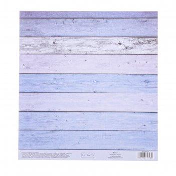 Бумага для скрапбукинга с клеевым слоем «доски», 20 x 21,5 см, 250 г/м