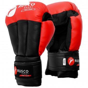 Перчатки для рукопашного боя rusco sport  8 oz цвет красный