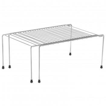 Полка раздвижная для шкафа, 36(62)x22x15 см, цвет хром
