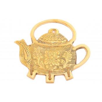 Вешалка-крючок чайник латунь (полиш) 4шт/упак.
