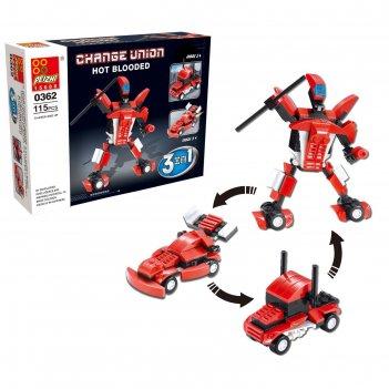 Коснтрукто робот, 3 варианта сборки, 115 деталей