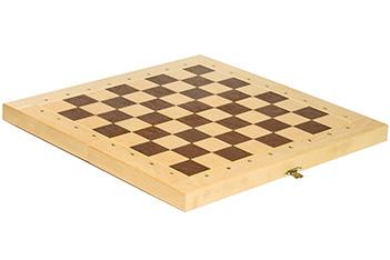 Складной кейс для шахматных фигур woodgame береза 45мм, 45х45см