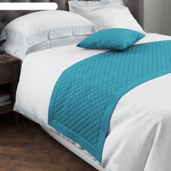 Покрывало-саше «каспиан», размер 70 x 230 см, цвет голубой