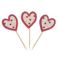 Пика для канапе сердечко набор 12 штук