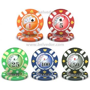 Профессиональные чипы для покера royal flush 14 грамм