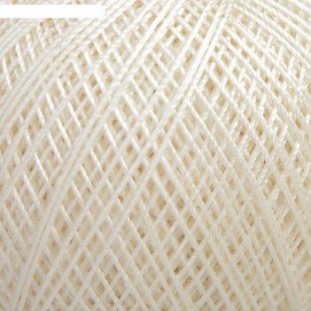Нитки вязальные кружевница 195м/20гр 100% мерсеризованный хлопок цвет 0102